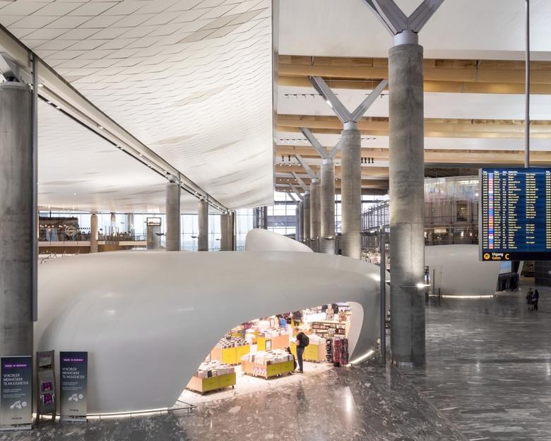 Multi Drywall Layers : Terminal flughafen oslo lindner group
